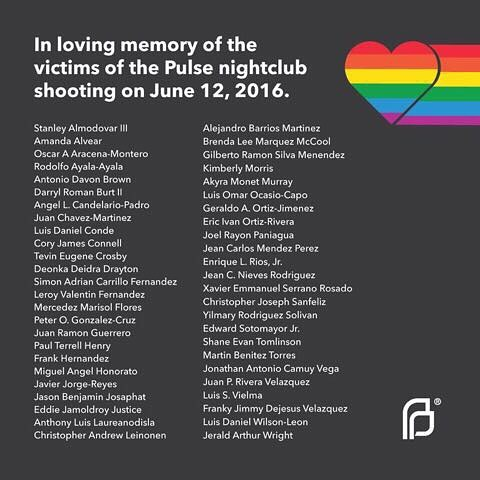 One year ago today. We remember and we stand together with the LGBTQ community against hate and violence #OrlandoUnitedDay 🌈